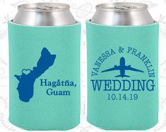 Guam Wedding Favors, Coolies, Destination Wedding Gift, Guam Wedding Shower, Travel Wedding Favors, Koozies (179)