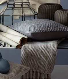 20 euro, kussenhoes h&M Product Detail Knitted Cushion Covers, Knitted Cushions, Knitted Blankets, Merino Wool Blanket, H&m Home, Gray Sofa, H&m Online, Chrochet, Soft Furnishings