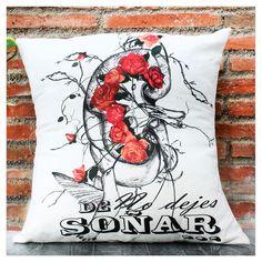 """#Cojines de diseño #Cushions design #Decoración """" No dejes de soñar..."""""""