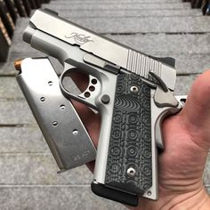 I love the stainless look on this Kimber // Deluxe Timber Kimber 1911, Weapons Guns, Guns And Ammo, Kimber America, Shooting Equipment, 1911 Grips, Firearms, Shotguns, Tactical Gear