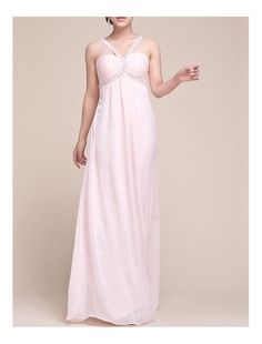 Chiffon Halter Neckline Empire Evening/Prom Dress with Ruched Bust