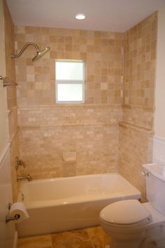 Ceramic Tile Bathtub Surround Ideas | bathroom interior design ideas with elegant white bath tub closet