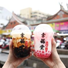 sugar pearls and strawberry popping boba of course! brown sugar pearls and strawberry popping boba of course! sugar pearls and strawberry popping boba of course! brown sugar pearls and strawberry popping boba of course! Fun Drinks, Yummy Drinks, Yummy Food, Healthy Food, Bubble Tea Supplies, Boba Drink, Bubble Milk Tea, Japanese Snacks, Strawberry Milk