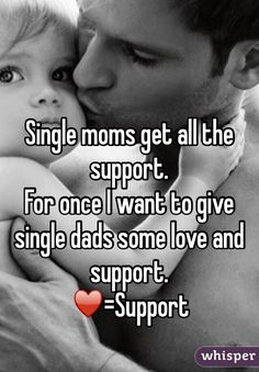 Single moms get all the support.  For once I want to give single dads some love and support.  ♥️=Support