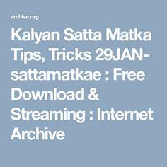Yaha Kalyan Satta Matka, Rajdhani Day-Night and Milan Day-Night ke