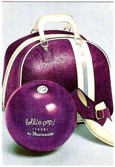 Lollipop Brunswick bowling bag/ball