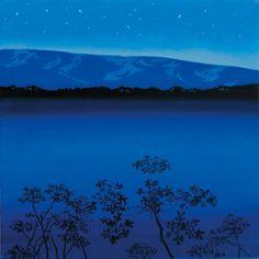 Lengselens landskap-Eva Harr Landscape Paintings, Landscapes, Paper Board, Scandinavian Art, Vincent Van Gogh, Northern Lights, Artists, Night, World