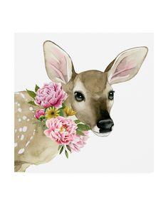 Grace Popp 'Deer Spring I' Canvas Art Black, Trademark Fine Art Artist Canvas, Canvas Artwork, Framed Artwork, Online Art Gallery, Find Art, Graphic Art, Deer, Art Prints, Spring