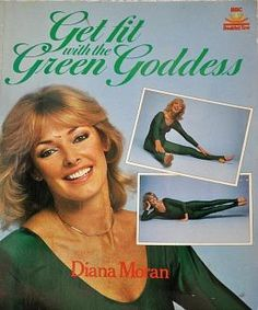 The Green Goddess (Diana Moran) provided regular aerobics style workouts on BBC Breakfast Time wearing a green leotard.