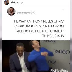 And Chris doesn't even care if he is falling or not. Mackie save another day And Chris doesn't even care if he is falling or not. Mackie save another day Related posts:*Marvel Comics Gilded. Avengers Humor, Marvel Jokes, Funny Marvel Memes, Dc Memes, Funny Memes, Silly Jokes, Funniest Memes, Funny Pics, Hilarious