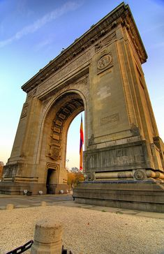 Arcul de Triumf, Bucuresti, Romania Bulgaria, Capital Of Romania, Visit Romania, Ukraine, Bucharest Romania, Eastern Europe, Places Around The World, Places Ive Been, The Good Place