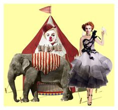 """""""Circus Dolls"""" by kmaryk ❤ liked on Polyvore featuring art"""
