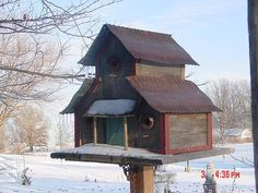 Picture of BARN WOOD BIRD HOUSE #2