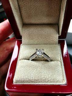 .90 carat diamond ring. Set in 18kt white gold