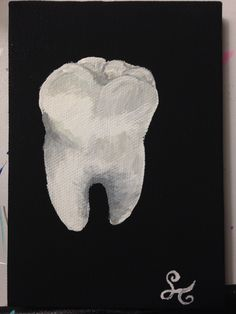 Lonely Tooth - acrylic paint