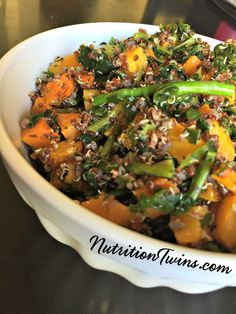 Rainbow Quinoa |  Only 100 Calories | Light & Healthy Carb Comfort Food |For Nutrition & Fitness Tips & RECIPES please SIGN UP for our FREE NEWSLETTER www.NutritionTwins.com