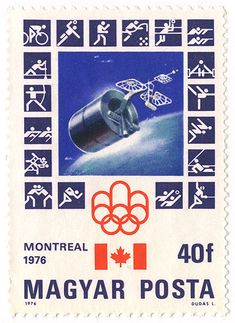 Because you should never have to decide between designing a stamp about space exploration and a stamp about the 1976 Olympic Games. 1976 Olympics, Summer Olympics, Montreal, Branding, Space Exploration, Olympic Games, Postage Stamps, Hungary, Friday