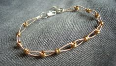 recycled guitar string & ball ends #handmade #jewelry #bracelet #DIY #craft #recycle #reuse #repurpose