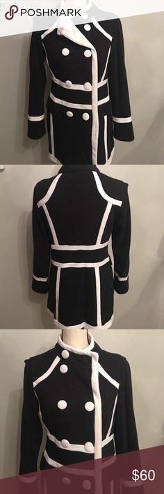 INC black and white thick cotton jacket INC black and white thick cotton jacket, definitely makes a statement INC International Concepts Jackets & Coats
