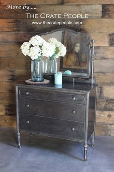 Metal Dresser by Simmons Co. ON CASTERS  Stripped by FoundInAttic