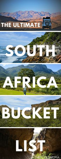 South Africa is an amazing travel destination! If you're planning a trip, you need our list of top things to do in South Africa, which is best explored on a road trip. The full list includes interesting cities Cape Town and Johannesburg, breathtaking nature through South Africa's National Parks like Kruger, and cultural sites like Mandela's capture site | travel tips, South Africa travel, South Africa safari, South Africa bucket list, South Africa photography #southafrica #traveltips…