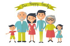 Happy family. Vector, flat style by mcherevan on Creative Market