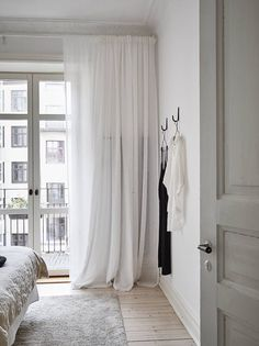 Natural White Linen curtain - Bedroom curtain - Pod pocket panels - Available color., Natural White Linen curtain - Bedroom curtain - Pod pocket panels - Available colors - custom sizes, When it comes to sleeping quarters design. White Linen Curtains, White Bedroom Curtains, White Bedrooms, Bedroom Carpet, Wall Of Curtains, Bedroom Curtains Blackout, Ivory Bedroom, Floor To Ceiling Curtains, Patio Door Curtains