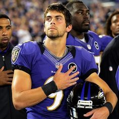 Justin Tucker--kicked winning field goal in the Broncos game 1/12/13!!