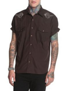Rock Steady  Dancing Dead Short-Sleeved Western Woven