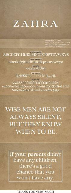Zahra Serif Typeface Font @creativework247