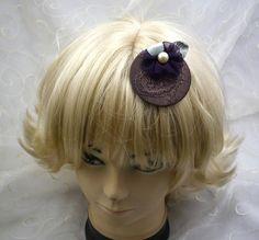 "aparter mini Kopfschmuck, distinctive mini Headpiece ""Violetta"" - ""Violetta"" von KopfBisFuss auf Etsy"
