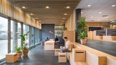 Four workspaces in the Netherlands built with a focus on sustainable, circular design - News - Frameweb Amsterdam, Urban Agriculture, Circular Economy, Corporate Interiors, Cafe Tables, Acoustic Panels, Restaurant, Country Estate, Lounge Areas