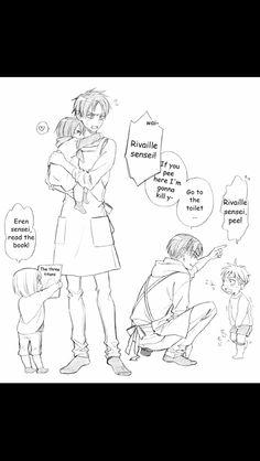 Mikasa, Jean, armin, Levi & eren