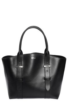 Alexander McQueen 'Small Legend' Leather Shopper available at Black Leather Tote Bag, Leather Purses, Black Tote, Leather Handbags, Beautiful Handbags, Beautiful Bags, Tote Handbags, Purses And Handbags, Ladies Handbags