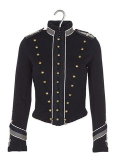 b0bdb05eaaa0 Veste officier cintrée en coton Bleu by DENIM AND SUPPLY BY RALPH LAUREN