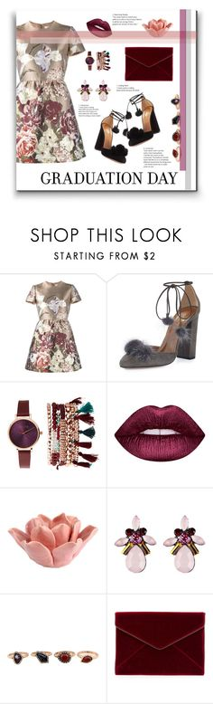 """Untitled #163"" by fjannah on Polyvore featuring Valentino, Aquazzura, Jessica Carlyle, Lime Crime, HomArt, WithChic and Rebecca Minkoff"