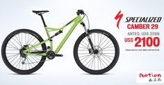 ¡Con esta bici harás que todos muerdan el polvo! La Specialized Camber 29 ha sido diseñada para desarrollar la máxima velocidad en todos los senderos. ¡Rueda como te gusta con esta bici ligera, rígida, muy durable y equipada con el triángulo trasero Camber FSR! ¿Acaso no te parece el mejor regalo por el día del padre? *Promoción vigente hasta el 19 de Junio o hasta agotar stock #iamspecialized #trail #mtb #beinmotion #motion