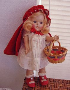 """VINTAGE VOGUE STRUNG GINNY DOLL """"RED RIDING HOOD"""" 1950/51 CHARACTER GROUP,MINTY #Dolls"""