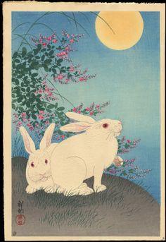 Two Rabbits, Koson Ohara