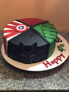These superhero's cake can include whichever hero you admire most. Avengers Birthday Cakes, Geek Birthday, Superhero Birthday Cake, 4th Birthday Cakes, Twin Birthday, Star Wars Birthday, Star Wars Party, Birthday Party Themes, Birthday Ideas