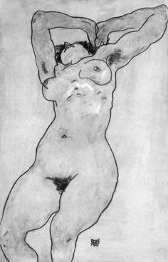 myarmisnotalilactree: Egon Schiele, Reclining Nude, 1918