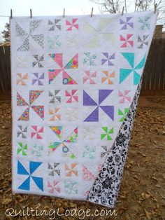 This quilt was designed by me and uses a layer cake.