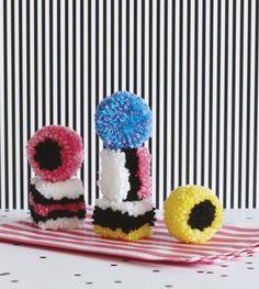 Liquorice Candy Pom Poms