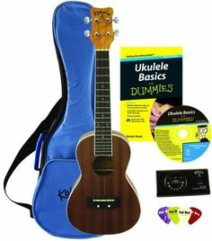 For Dummies Ukelele Learner's Package by FOR DUMMIES. $111.14. For Dummies Ukelele Learner's Package... learn to strum this gorgeous instrument like a pro! If you've listened to the relaxing, inviting sounds of the ukelele for years - and always wanted to play - this is your chance! The acclaimed For Dummies series extends to Ukelele here, with a book of training exercises and instructional CD to get you started. The package comes with a gorgeous Kohala ukelele. ...
