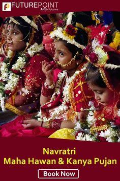 Maha Pujan on the divine occasion of Navratri Maha Hawan. Book your Maha Hawan Puja & Kanya Pujan today to get the most pious blessings of Maa Parvati. Book Now👉   #puja #navtratri #mahapujan #maaparvati #futurepoint