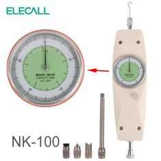 59.99$  Watch here - http://alif0o.worldwells.pw/go.php?t=32620766612 - ELECALL NK-100 Analog Dynamometer Force Measuring Instruments Thrust Tester Analog Push Pull Force Gauge Tester Meter 59.99$
