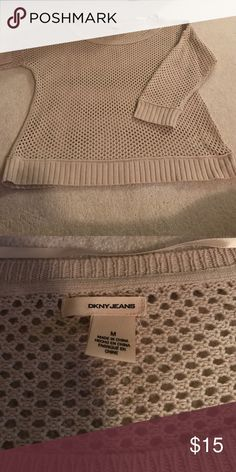 DKNY tan sweater Excellent condition used once or twice cleaning out closets DKNY sweater DKNY Sweaters Crew & Scoop Necks