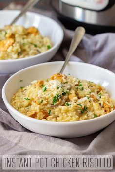Instant Pot Chicken Risotto is a hassle-free alternative to the original Italian stove-top version. No need to be standing by the pot, stirring constantly. #happyfoodstube #instantpot #chicken #risotto #pressurecooker #pressurecooking #easyrecipe #recipe #italian #food #italianfood #cooking #homecooking via @happyfoodstube