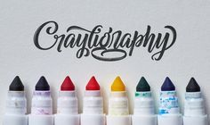 Yesterday experienced lettering artist Colin Tierney launched 'Crayligraphy', a place to learn 'Crazy Crayola Calligraphy'. Crayola Calligraphy, Calligraphy Tutorial, How To Write Calligraphy, Lettering Tutorial, Calligraphy Letters, Typography Letters, Modern Calligraphy, Calligraphy Handwriting, Nelson Handwriting