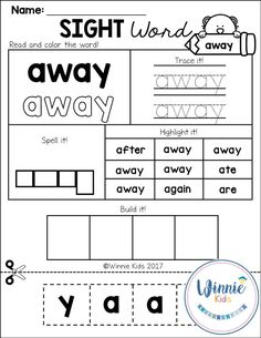 These worksheets are perfect to help your young students
